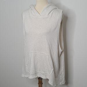 Free People hooded sleeveless vest